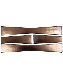 "Arto Brick - Metallic: Bowtie Bronze 2""x12"" - Ceramic Tile"