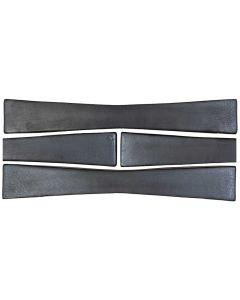 "Arto Brick - Metallic: Bowtie Graphite 2""x12"" - Ceramic Tile"
