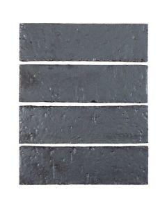 "Arto Brick - Metallic: Graphite 2""x8"" - Glazed Brick"