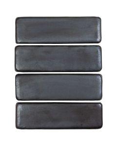 "Arto Brick - Metallic: Oleson Graphite 3""x9"" - Ceramic Tile"