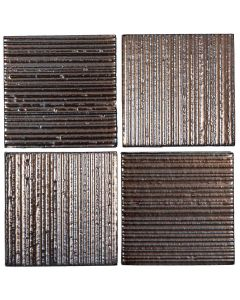 "Arto Brick - Metallic: Corduroy Bronze 4""x4"" - Ceramic Tile"