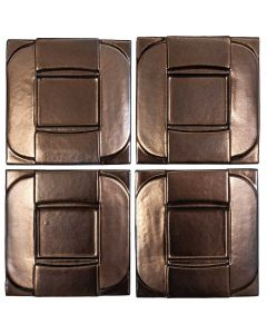 "Arto Brick - Metallic: Buckle Bronze 6""x6"" - Ceramic Tile"