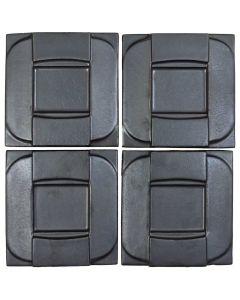 "Arto Brick - Metallic: Buckle Graphite 6""x6"" - Ceramic Tile"