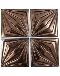 "Arto Brick - Metallic: Compass Bronze 6""x6"" - Ceramic Tile"