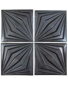 "Arto Brick - Metallic: Compass Graphite 6""x6"" - Ceramic Tile"