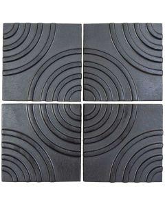 "Arto Brick - Metallic: Target Graphite 6""x6"" - Ceramic Tile"