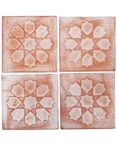 "Arto Brick - Peninsula: Relief Deco III 6""x6"" - Ceramic Tile"