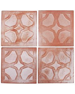 """Arto Brick - Peninsula: Relief Deco IV 6""""x6"""" - Ceramic Tile"""