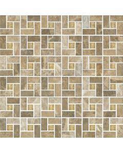 Elysium - Milano: Emperador Light Square- Mosaics