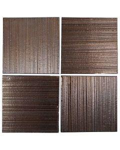 "Arto Brick - Metallic: Corduroy Bronze 8""x8"" - Ceramic Tile"