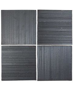 "Arto Brick - Metallic: Corduroy  Graphite 8""x8"" - Ceramic Tile"