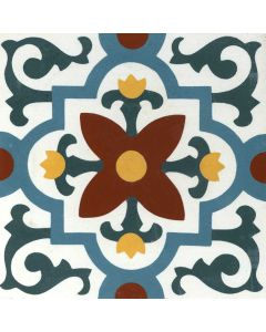 "Arto Brick - Indochine Cement: Santa Clara 8""x8"" - Cement Tile"