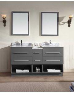 "Dawn® Gloria Vanity Set 60"" w/ Double Sink"