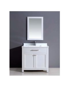 Dawn® Vanity Set:  Counter Top (AAMT362135-01), Cabinet (AAMC362135-01) & Mirrior (AAM2230-00)