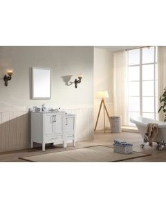 Dawn® - Ross Series: White - Double Cabinet 36""