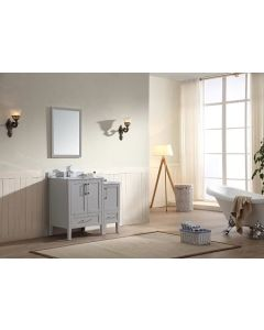 Dawn® - Ross Series: Light Grey - Double Cabinet 36""