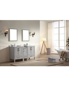 Dawn® - Ross Series: Light Grey - Double Sink