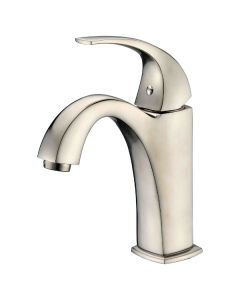 Dawn® Single-lever lavatory faucet, Brushed Nickel (Standard pull-up drain with lift rod D90 0010BN included)