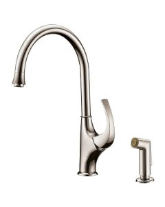 Dawn® Single-lever kitchen faucet with side-spray, Brushed Nickel