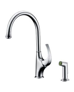 Dawn® Single-lever kitchen faucet with side-spray, Chrome