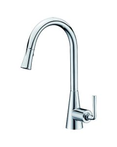 Dawn® Single-lever pull-down spray sink mixer, Chrome