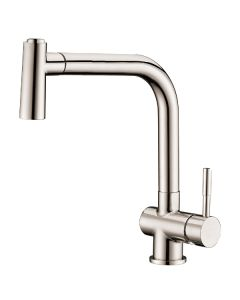 Dawn® Single-lever pull-out spray sink mixer, Brushed Nickel