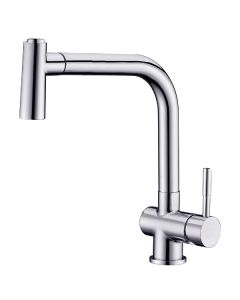 Dawn® Single-lever pull-out spray sink mixer, Chrome