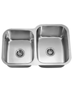Dawn® Undermount Double Bowl Sink (Small Bowl on Left)