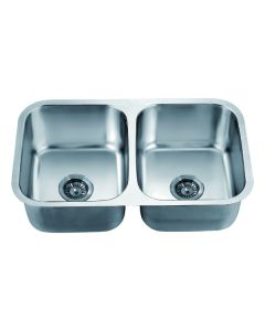 Dawn® Undermount Equal Double Bowl Sink