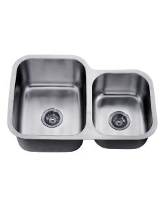 Dawn® Undermount Double Bowl Sink (Small Bowl on Right)