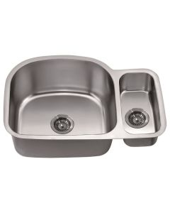 Dawn® Undermount Double Bowl Sink Small Bowl on Right