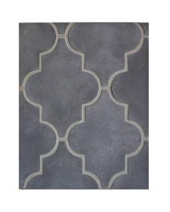 Arto Brick - Tile Artillo:14x18 Boutique Board Arabesque Pattern 16 Charcoal Gray- Artillo Tile