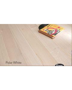 Virginia Hardwood - Genuine French Oak: Polar White - Engineered Wirebrushed French Oak
