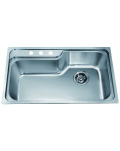 Dawn® Top Mount Single Bowl Sink with 3 Holes