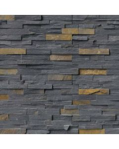 "MSI Stone - Rockmount: Charcoal Rust 6"" x 24"" - Stacked Stone Panel"
