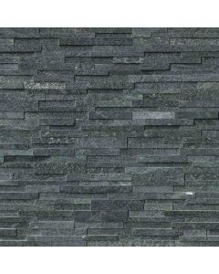 "MSI Stone - Rockmount: Coal Canyon 3D 6"" x 24"" - Stacked Stone Panel"