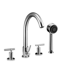 Dawn® 4-hole Tub Filler with Personal Handshower and Lever Handles