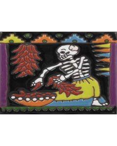 Talavera Tile - Day Of The Dead: Labor