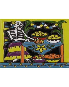 Talavera Tiles - Day Of The Dead: Pisco