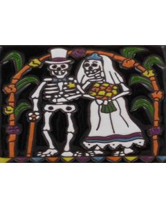 Talavera Tile - Day Of The Dead: Wedding Day