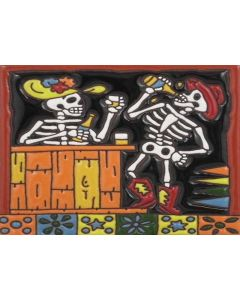 Talavera Tile - Day Of The Dead: With Tequila