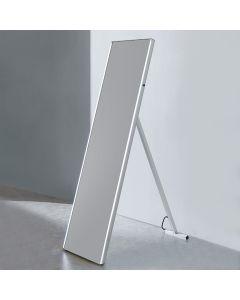 Dawn® LED Back Light Free Standing Mirror w/ Matte Aluminum Frame & IR Sensor