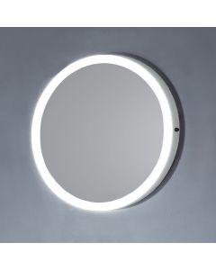 Dawn® LED Back Light Round Mirror w/ MDF White Frame & IR Sensor