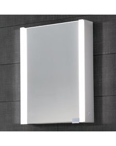 Dawn® LED Mirror/Medicine Cabinet w/ Matte Aluminum Frame & Dimmer Switch