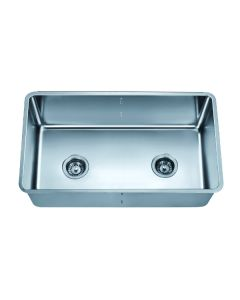 Dawn® Undermount Single to Double Combination Bowl Sink with Removable Acrylic Glass Divider (PD1717)