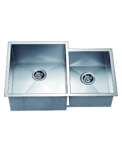 Dawn® Undermount Double Bowl Square Sink (Small Bowl on Right)