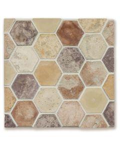 Arto Brick - Tile Artillo:24x24 Grout Board Artillo 6'' Hexagon Creme Fraiche Vintage- Artillo Tile