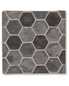 Arto Brick - Tile Artillo:Artillo 6'' Artillo Hexagon Charcoal Gray Vintage- Artillo Tile