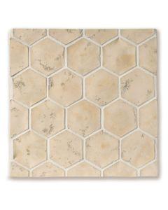 Arto Brick - Tile Artillo: 24x24 Grout Board 6x6 Artillo Hexagon Hacienda Limestone- Artillo Tile
