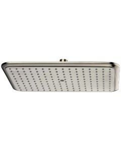 Dawn® Single Function Rectangle Rain Showerhead, Brushed Nickel